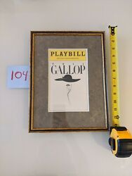 Broadway Playbills Shows- New 54 Custom Framed Collection For Cafe Office Decor