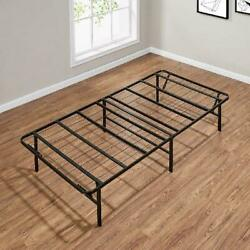 Mainstays 14 High Profile Foldable Steel Bed Frame, Powder-coated Steel