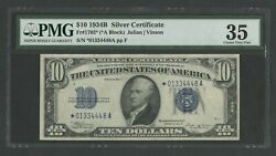 Fr1703 10 1934b Silver Cert Star Note Pmg 35 Choice Vf Only 29 Recorded Wln76
