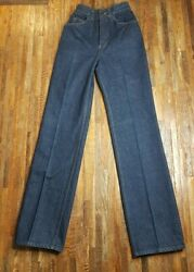 Vintage 70`s H.i.s Chic Jeans Womens Pants Size 22 High Waist Unhemmed Nos Mom