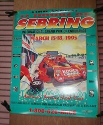 1995 12 Hours Of Sebring Nos Racing Poster
