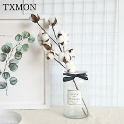 10 heads natural cotton branches fake wall plants holding wedding decoration