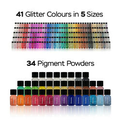 Hemway Glitter And Pigment Tubes Full Collection - All Sizes All Colour X 239