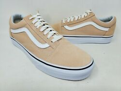 NEW! Vans Men's Old Skool Classic Shoe Tan And White #500714 H1A rr