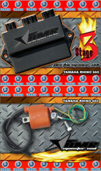 High Performance Cdi Box + Ignition Coil For Yamaha Rhino 660 All Years Stage 3