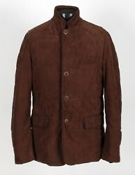 $18825 NWT - Spectacular LORO PIANA MINK FUR Lined SUEDE Jacket Coat - Brown M