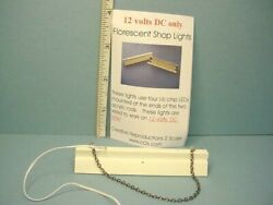 Miniature Fluorescent Shop Light Electrified 12volts Dc Only - 1/12th Scale