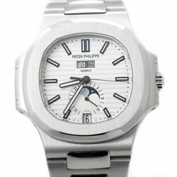 Patek Philippe Nautilus Steel Annual Calendar Watch Box & Papers 57261A