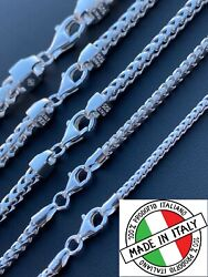 Real Solid 925 Sterling Silver Franco Chain 2-5mm Box Necklace Men Ladies 18-30