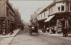 Horsham Sussex Street View 1905 Real Photo Horse Cart Shops People  Qz.733