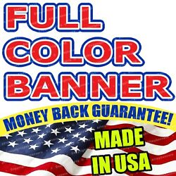 4and039x8and039 Banner Full Color Custom 13oz Vinyl High Quality Free Shipping