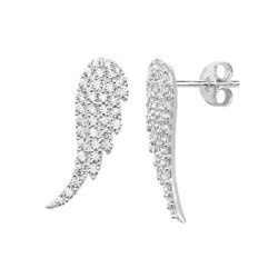 18carat Gold Angel Wing Diamond Earrings With Claw Settings 0.70cts