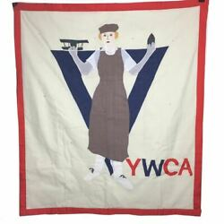 Vintage Handmade Wall Hanging Quilt YWCA Christian For Every Fighter a Woman