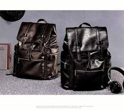 Leather High quality Backpack Designer Leather Fashion School Large Capacity New $56.99