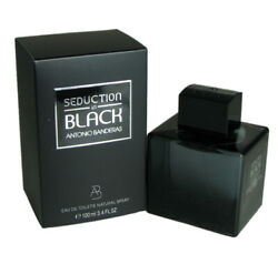Seduction In Black for Men by Antonio Banderas 3.4 oz Eau De Toilette Spray $17.59