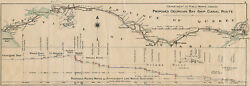 Large 1907 Map Montreal Ottawa Georgian Bay Ship Canal Route Wall Art Poster