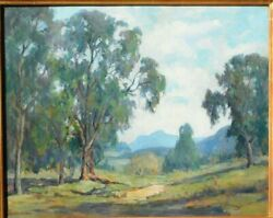 Mary Darter Coleman B.1893 Ca Artist Studied With Payne Oil/canvas 24 X 30