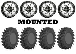 Kit 4 Sti Outback Max Tires 32x9.5-14/32x10-14 On Frontline 556 Machined Pol