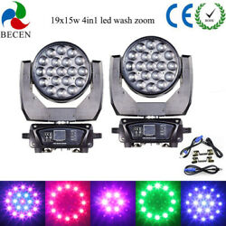 2pcs 19x15w Rgbw 4in1 Aura Led Zoom Moving Head Light Dj Party Lights From Us
