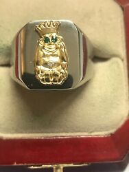 """New Men's Heavy Solid Stainless Steel """"masonic Jesters"""" Ring"""