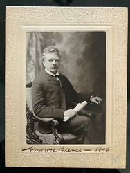Very Rare Ambrose Bierce Signed Photograph With Enigmatic Inscription 1896