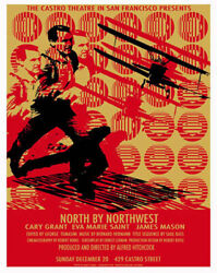 Hitchcock North By Northwest Castro Theatre Silkscreen Movie Poster Only 75 Made