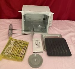 Ronco Compact Showtime Rotisserie And Bbq Oven With Accessories White Model 3000
