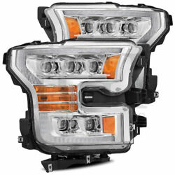 Chrome Nova Projector Headlights W/ Activation Sequential Signal For 15-17 F150