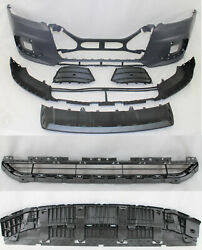 Replacement For 2013 - 2018 Q3 Front Bumper Sline Grille Lower Spoiler 7pc Set