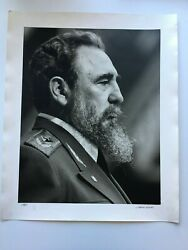 Liborio Noval Photo Print Of Fidel Castro Signed And Numbered 4/5 Dated 1987