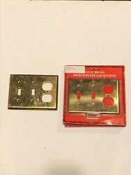 Vintage Lot New Old Stock Brass Switch Plates