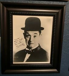 Stan Laurel Signed Autographed Photograph And 2 Letters Laurel And Hardy Jsa Coa