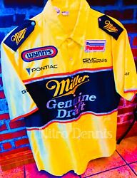 Nhra Rare Used Crew Shirt Dragster Don Prudhomme Nitro Snake Larry Dixon Signed
