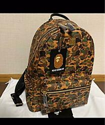 A Bathing Ape Mcm Collaboration Camouflage Backpack Unused Genuine F/s From Jpn