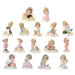 Precious Moments 01-16 Bundle Of Growing In Grace - Brunette - Set Of 16 Ages On