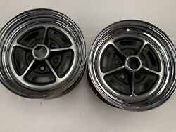 Buick 14x6 Factory Chrome Magnum Mag Wheels Rims Pair Skylark 455 Gs J15545