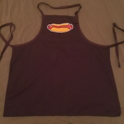 Vintage 90s Full Cover Apron Chef Barbecue Bbq Hotdog Print Made In Usa