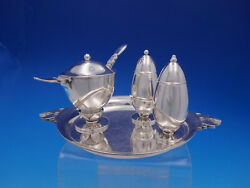 Cactus By Georg Jensen Sterling Silver Condiment Set 5-piece 629 4610