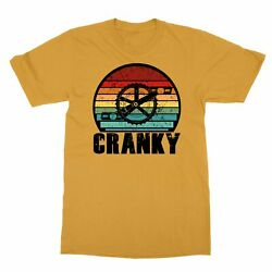 Bicycle Awesome Vintage Cranky Men#x27;s T Shirt $9.49