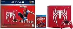 Marvel's Spider-man Playstation 4 Pro 1tb Limited Edition Console Bundle [new]