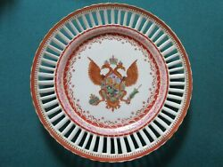 Imperial Coat-of-arms Russia 18th C Double-headed Eagle Chinese Porcelain Plate