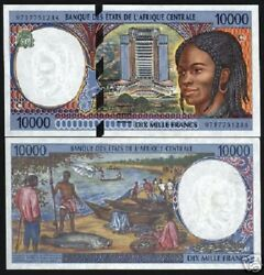 Central African Republic States 10000 10000 Francs P305 F 2000 Ship Unc Note