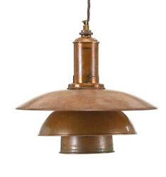 "Poul Henningsen PH-3"". Pendant with socket house and shades of copper"