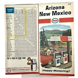 Enco Oil Gas New Mexico Road Map 1967 Happy Motoring Guide Advertising