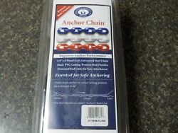 Greenfield 2115-b Vinyl Coated Anchor Chain Black 1/4 In X 4 Ft Marine Boat