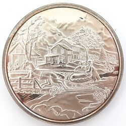 .unknown Issuer. Christmas Theme Unc .999 Silver 2 Troy Oz 62.5g Medallion