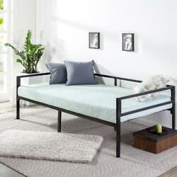 Twin Daybed Bed Frame Steel Support Day Bed Home Comfort No Mattress Black New