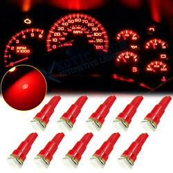 10x Red 37 73 74 79 T5 Gauge Cluster Background Lighting Wedge Led Bulbs