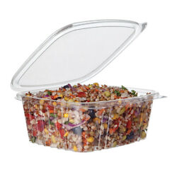 Eco-products 32 Oz. Hinged Rectangular Deli Containers / 200-ct. Case
