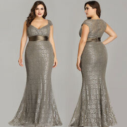 Ever-Pretty US Plus Size V-Neck Evening Prom Dress Mermaid Party Celebrity Gowns